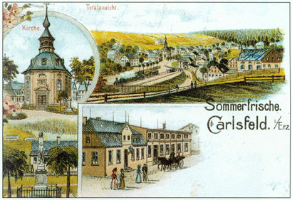 Carlsfeld on a postcard around 1900